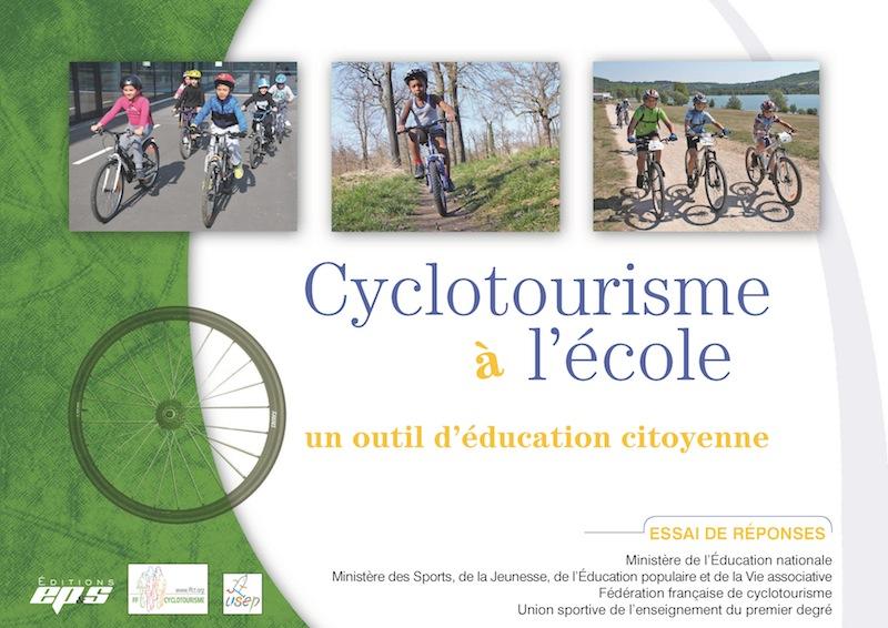 Cyclotourisme à l'école Couv