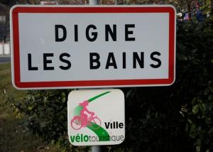 digne les bains ville velotouristique