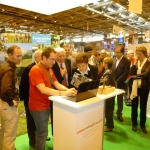 Madame la Ministre des Sports, Chantal Jouanno particulièrement attentive durant la présentation du portail veloenfrance.fr