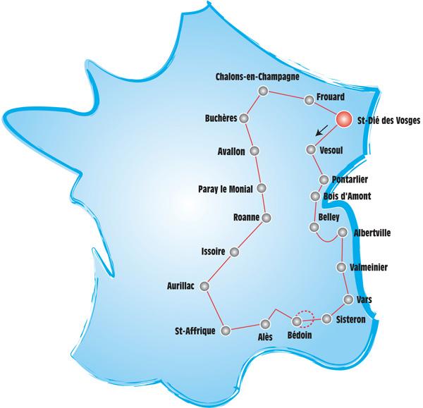 tour 2012 carte