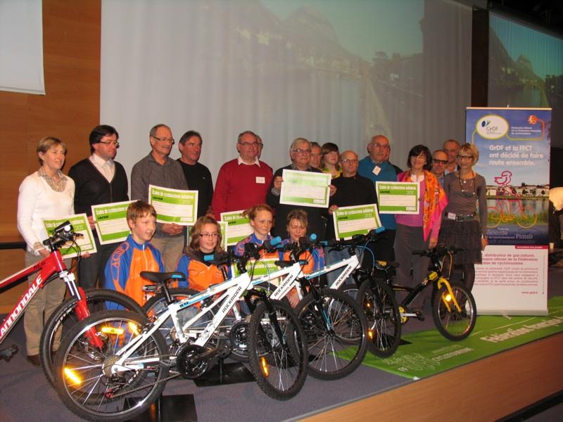 les ecoles de cyclotourisme recompensees grenoble AG FFCT decembre 2011
