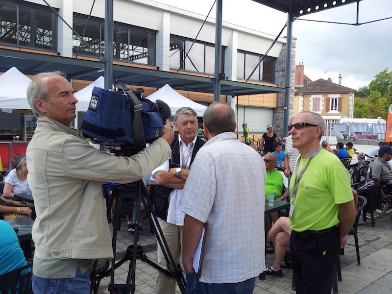 interview France 3 Auvergne semaine fédérale de cyclotourisme 2014