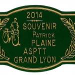 Une plaque de concours agricole pour le Souvenir Patrick Plaine 2014