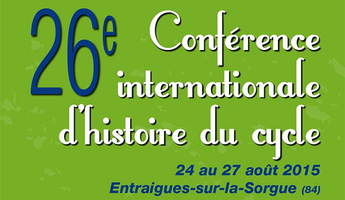 26e conf rence internationale d histoire du cycle du 24 au - La table d or entraigues sur la sorgue ...