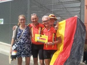 Les allemands Arnaud LOOSE et Johannes DÜSING, fiers d'être arrivés au bout.