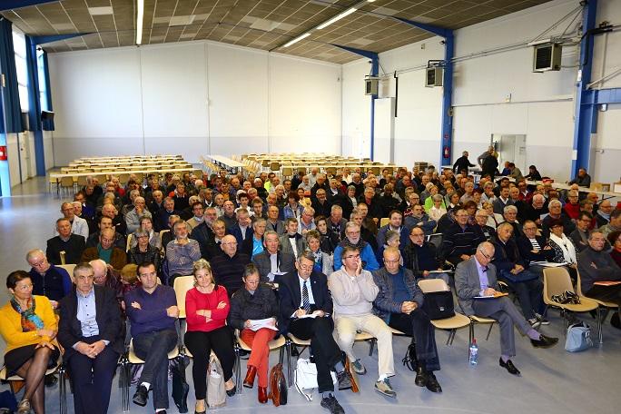 La salle polyvalente de Balma copieusement garnie pour l'AG ordinaire de la ligue des Pyrénées