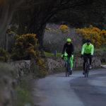 Veste vélo hiver RC500 pour être visible la nuit