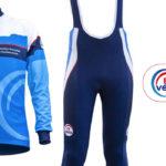 Pour affronter l'hiver avec style, le maillot et cuissard FFVélo