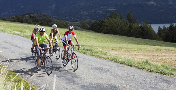 Sortie vélo entre amis.