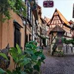 L'Alsace en vélo : Eguisheim, plus beau village de France